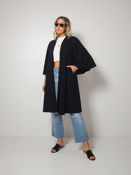 Jean Muir Wool Crepe Swing Coat