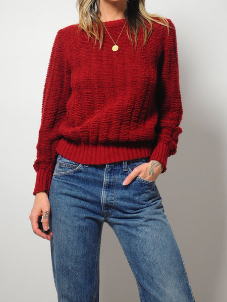 Sangria Textured Sweater
