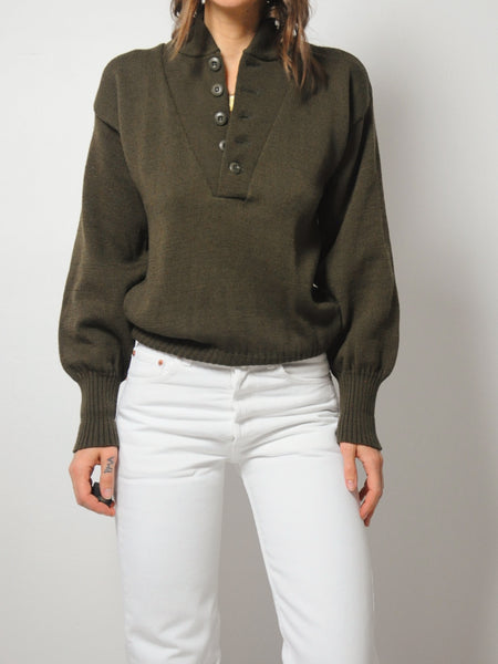 Olive Military Issue Sweater