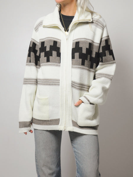70's Cozy Campfire Sweater