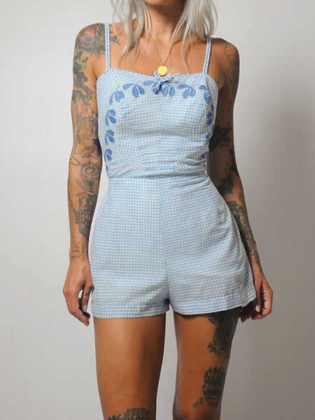 60's Gingham Playsuit