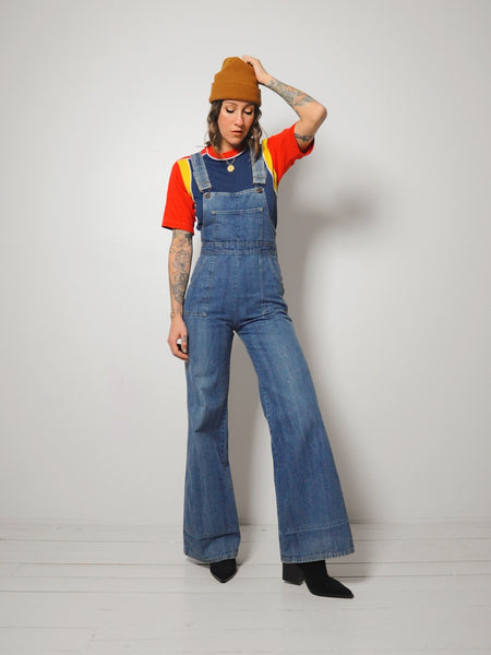 70's Flared Overalls