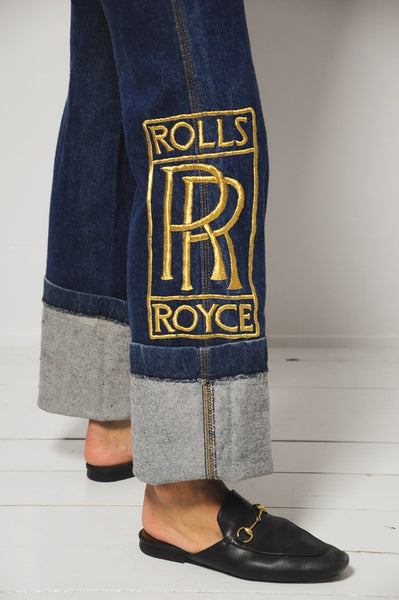 70's Rolls Royce Embroidered Jeans