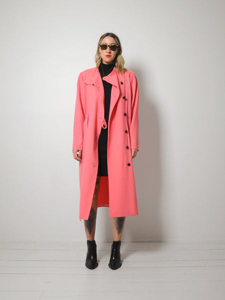 Minimal Salmon Trench coat