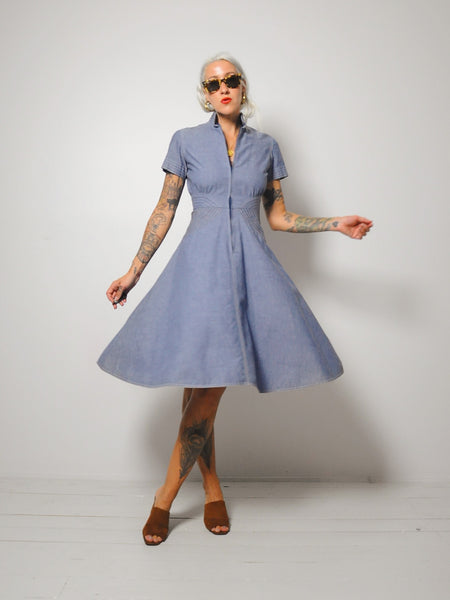 60's Ingrid Chambray Dress