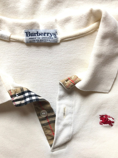 Ivory Burberry Polo Shirt