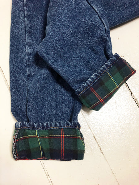 Flannel lined L.L.Bean Jeans 26x26
