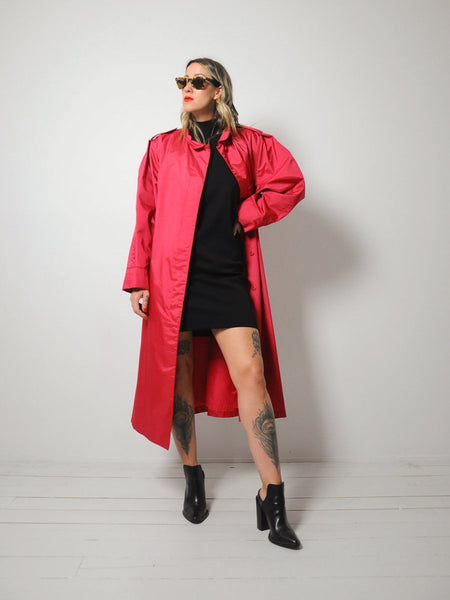 Raspberry Oversized Raincoat