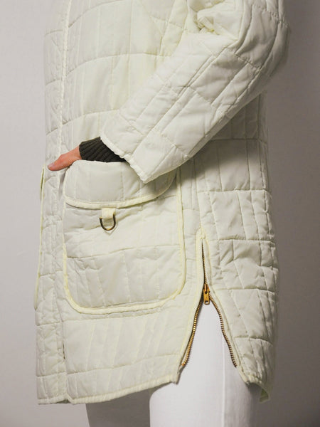 70's Quilted Trench Jacket
