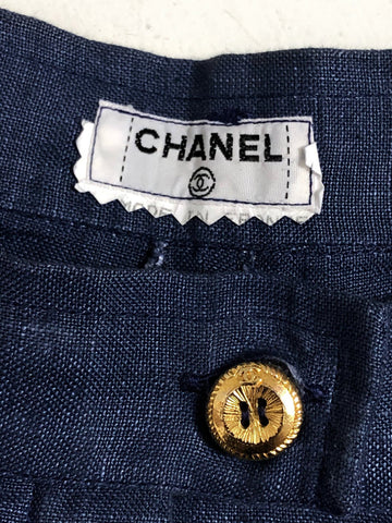Chanel Linen Trousers 27x27