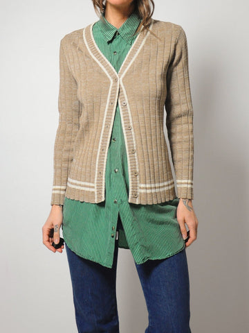 70's Taylor Ribbed Cardigan