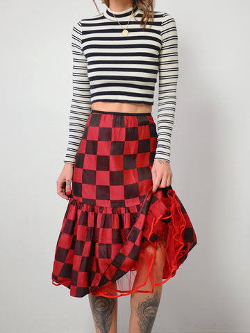 50's Checkered Tulle Skirt