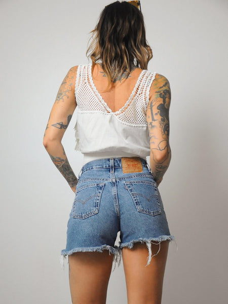 80's Frayed Levi's Cut Offs