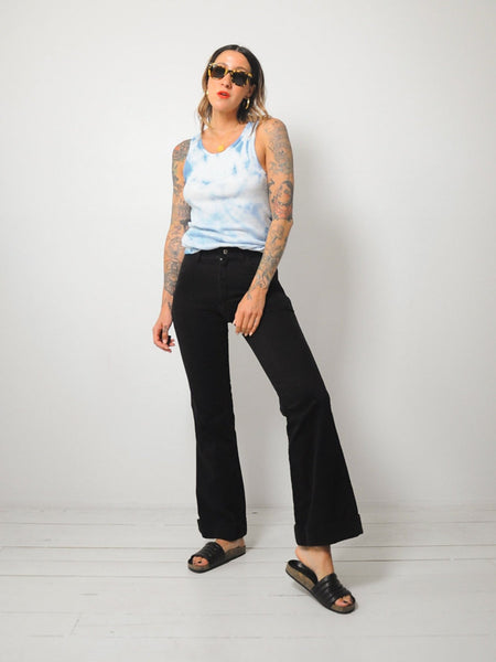 70's Black Flared Jeans 28x31