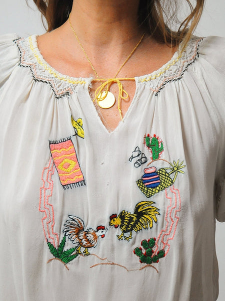 Rare 1930's Embroidered Blouse