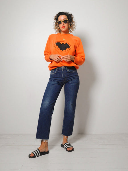 1950's Orange Bat Sweatshirt