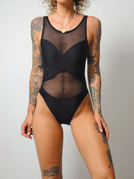 Mesh Illusion Waist Swimsuit