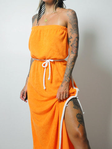 Orangesicle Terry Dress