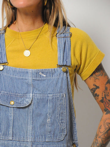 60's Hickory Stripe Overalls