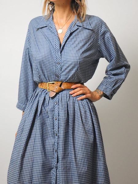 50's Eurus Gingham Dress
