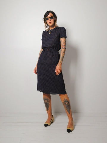 Selah Sheer Navy Shirt Dress