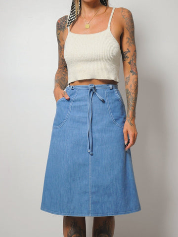 70's Eva Denim Wrap Skirt