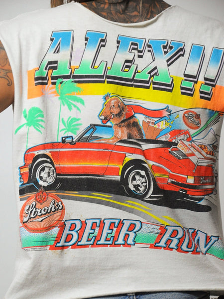 "80's Stroh's ""Alex"" Beer Run T-shirt"