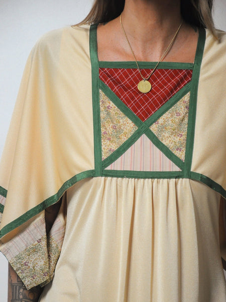 70's Apolline Patchwork Dress