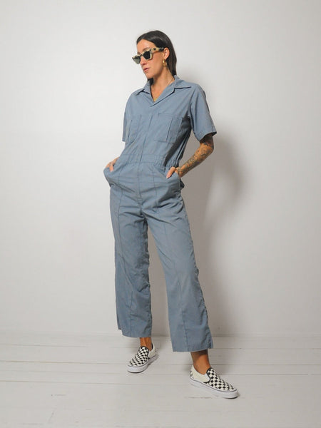 70's Slate Coverall Jumpsuit