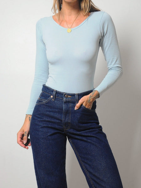 70's Powder Blue Bodysuit