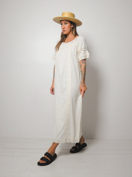 70's Elayna Cotton Gauze Dress