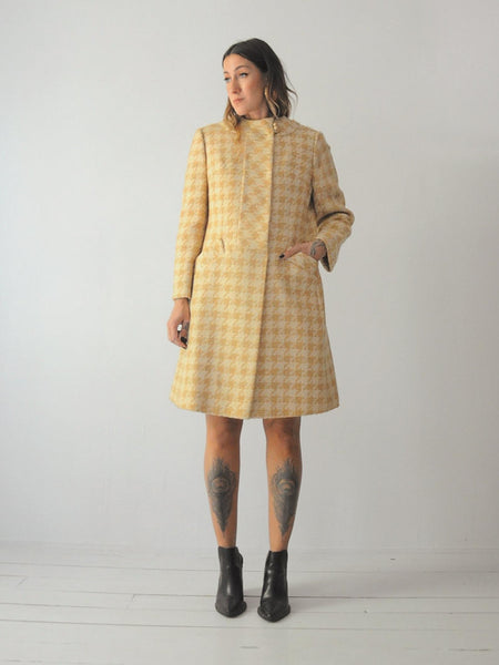60's Houndstooth Wool Set