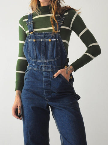 70s Dark Wash Lee Overalls