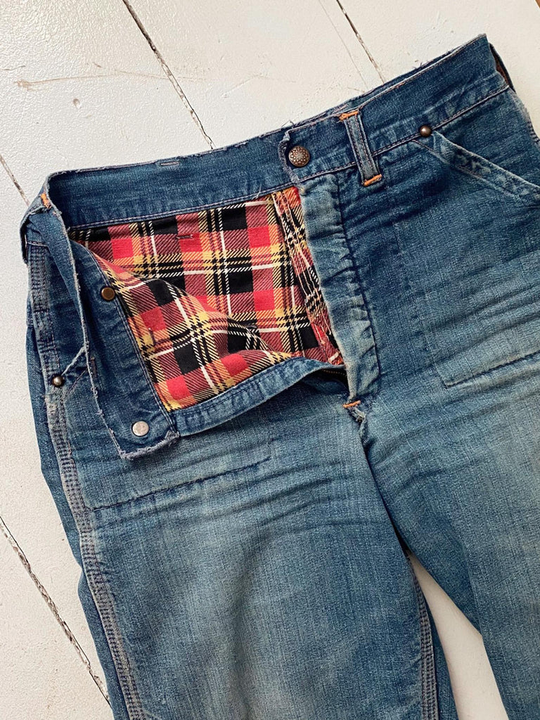 50's Flannel Lined Jeans 27x29