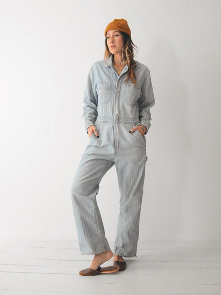 50's Herringbone Denim Boilersuit