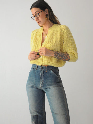 70's Dandelion Cropped sweater