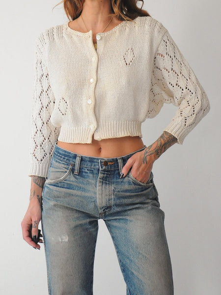 Italian Knit Crop Sweater