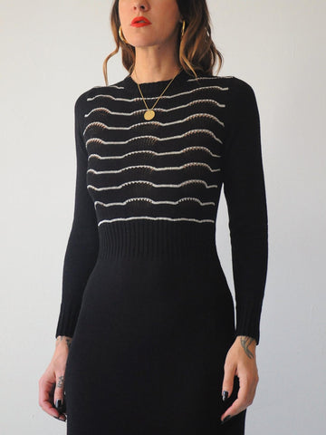 70's Athena Stripe Knit Dress