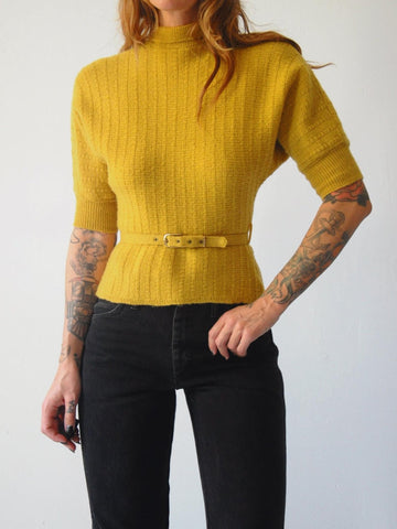 50's Wendy Ochre Sweater