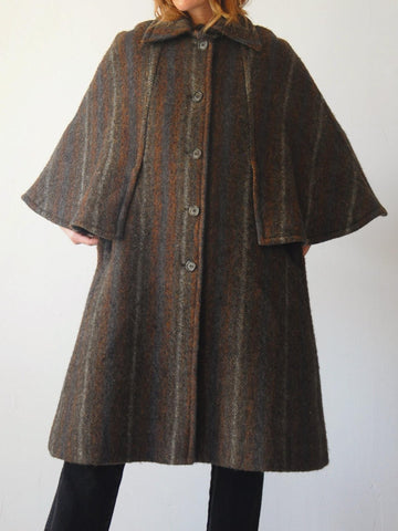 60's Irish Wool Cape Coat