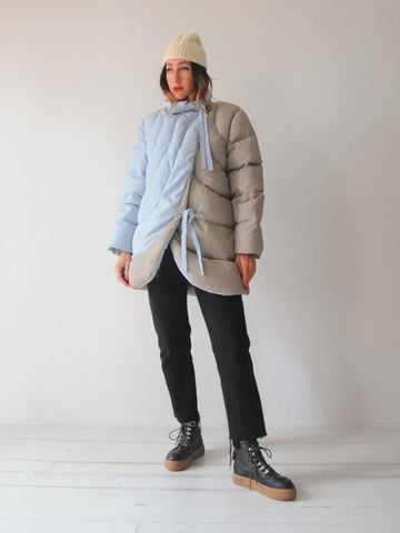 Bill Blass Down Cocoon Coat