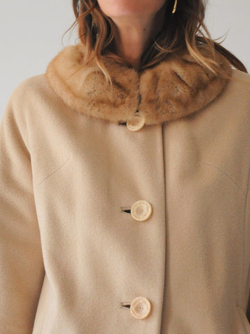 60's Vanilla Wool Coat