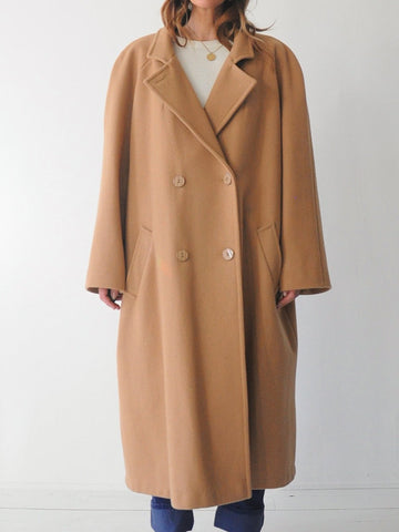 Oversized Camel Wool Peacocat