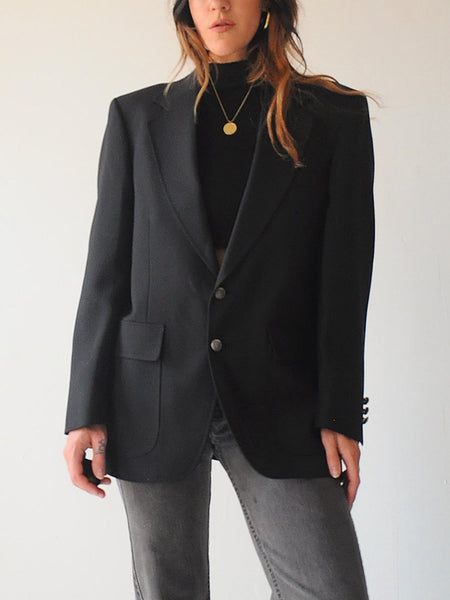 Black Menswear Blazer