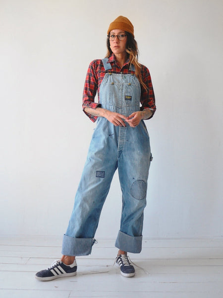 50's OshKosh Patched Overalls
