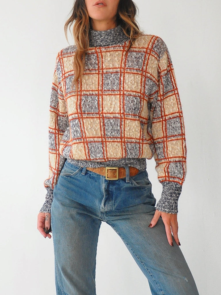 70's Checkerboard Sweater