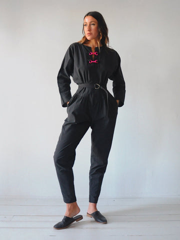 Cecily Bloused Cotton Jumpsuit
