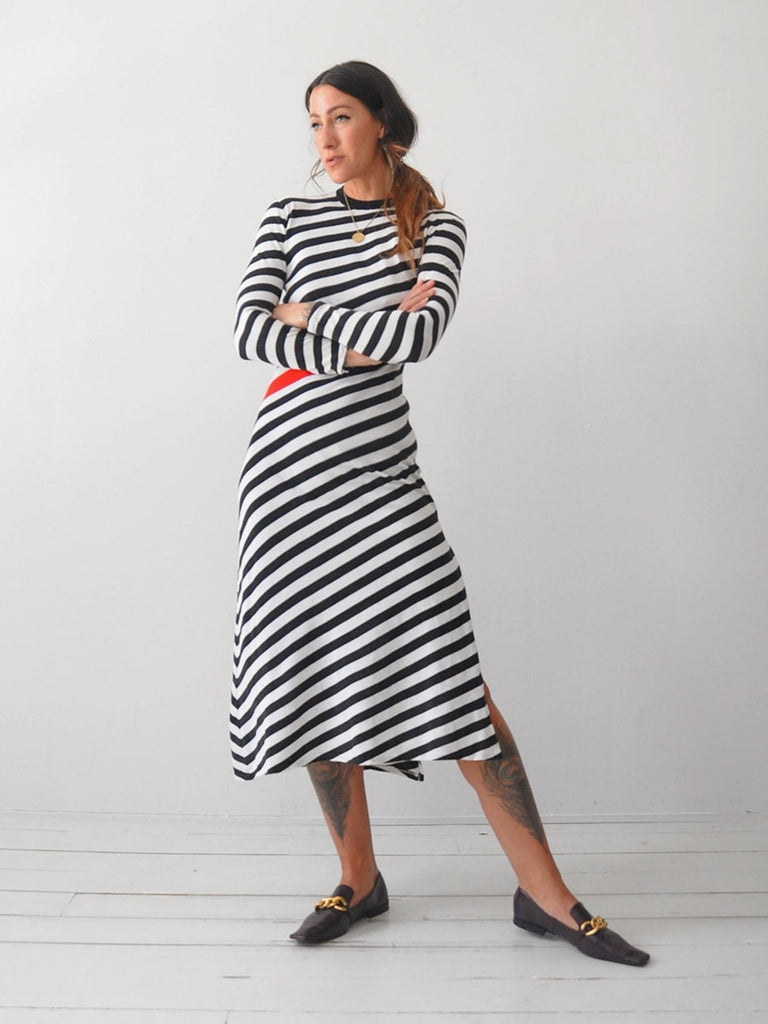 60's Italian Striped Dress
