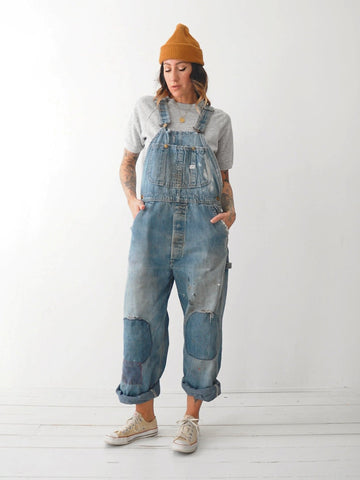 70's Lee Rainbow Patched Overalls