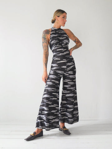 70's Cage Back Palazzo Jumpsuit